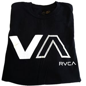 RVCA Men's/ Unisex Black & White Tee, Small